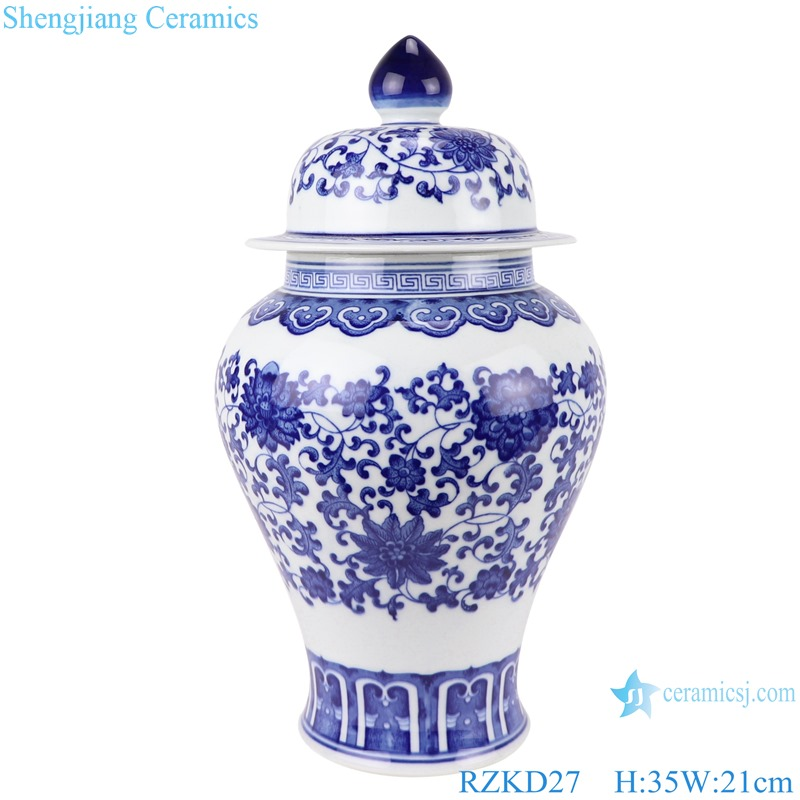 Chinese blue and white ceramic general pot pattern RZKD27