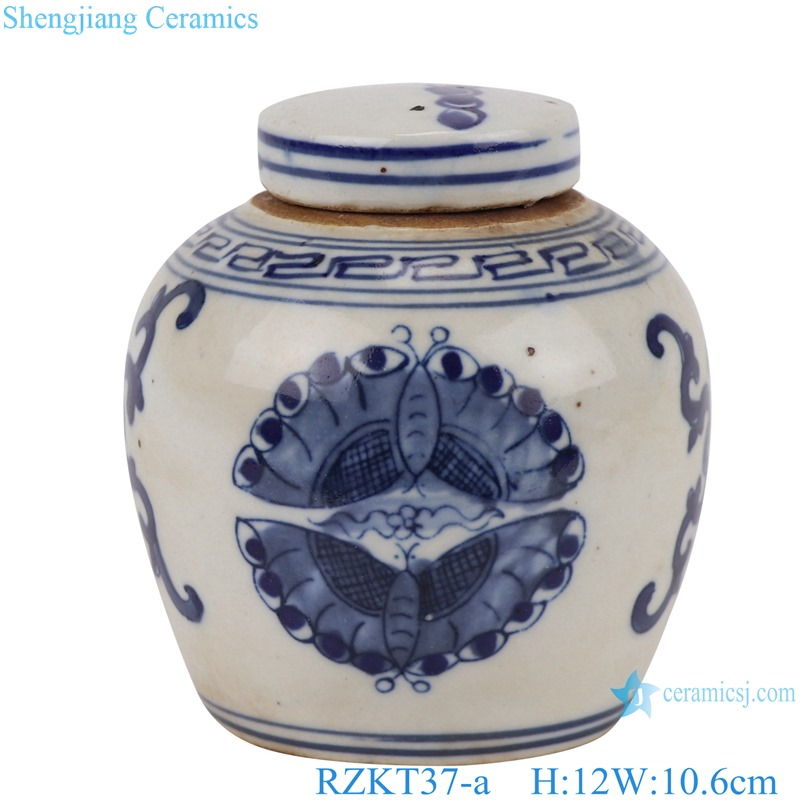 Chinese blue and white multi-pattern porcelain storage pot set RZKT37-Series
