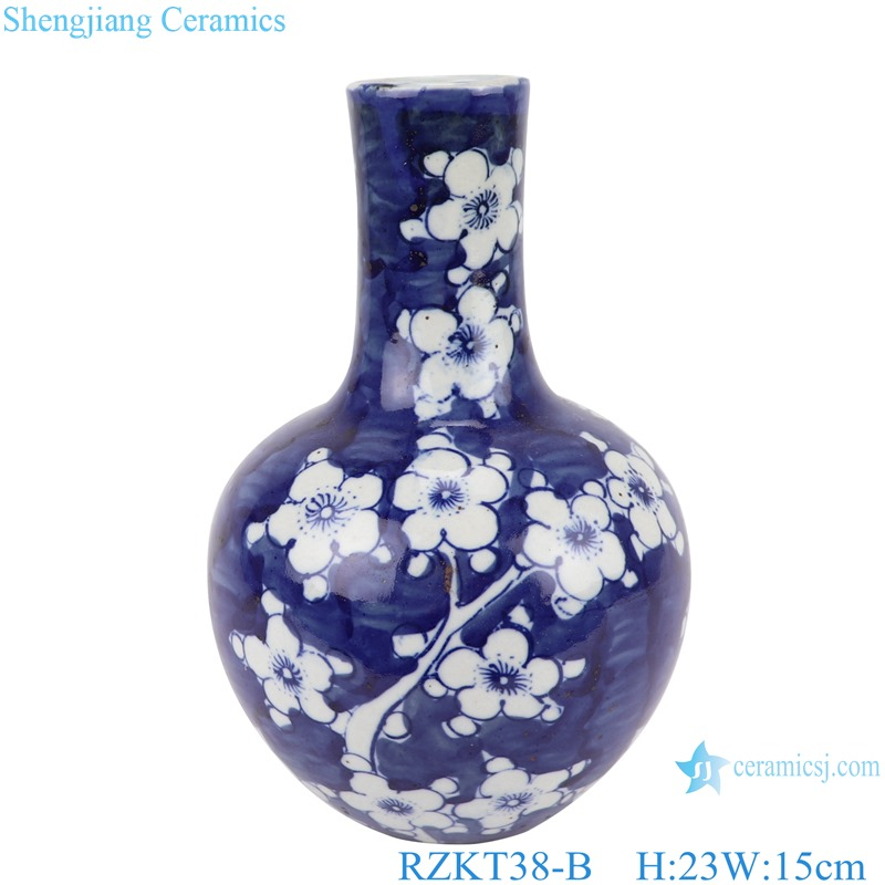 Chinese blue and white porcelain plum pattern RZKT38-B