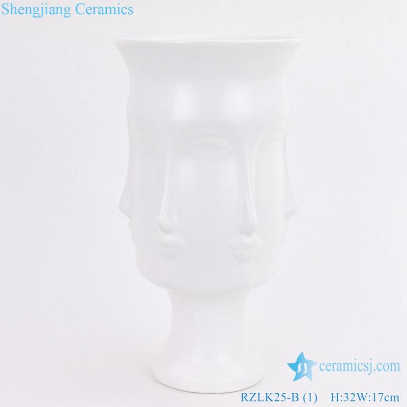 RZLK25 B Chinese ceramics white fcae vase