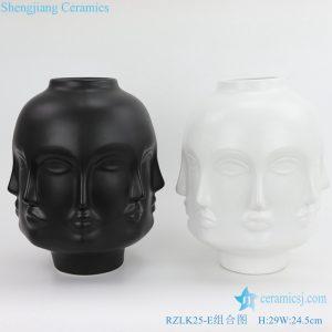 RZLK25 E Chinese fcae shape vase ceramics
