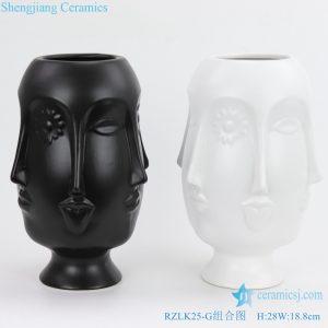 RZLK25 G Chinese fcae shape vase ceramics
