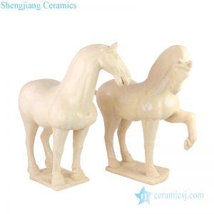 RZLN05 pottery horse ceramic figurine