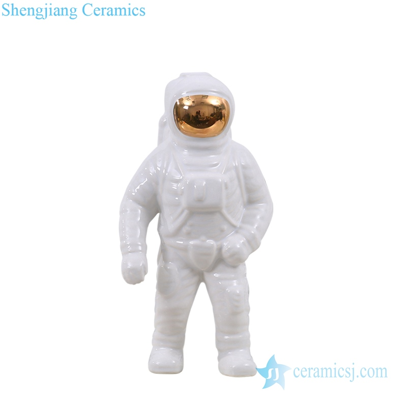 RZQK01 China spacman white ceramic figurine