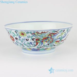 RZSA03 CLASHINGCOLOR DRAGON DESIGN BOWL