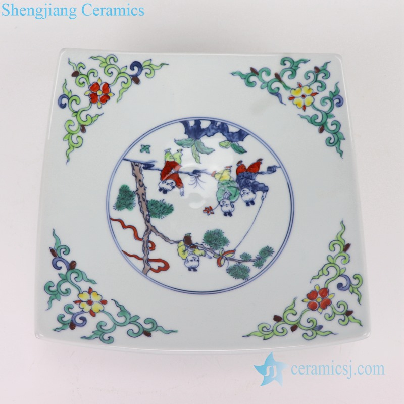 RZSA06 CLASHING COLOR CHILDREN AT PLAY DESIGN PLATE
