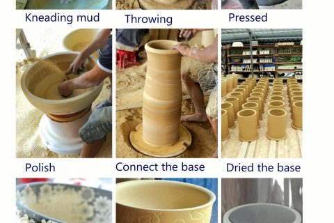 The production process flow of ceramic sink