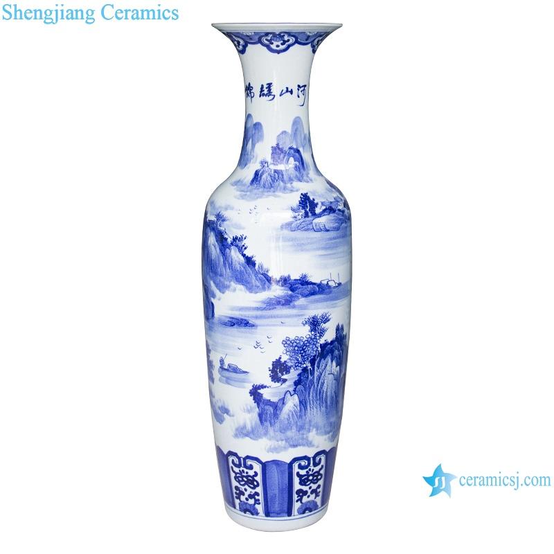 Jingdezhen antique cracked glaze jinxiushan Hetu ceramic vase
