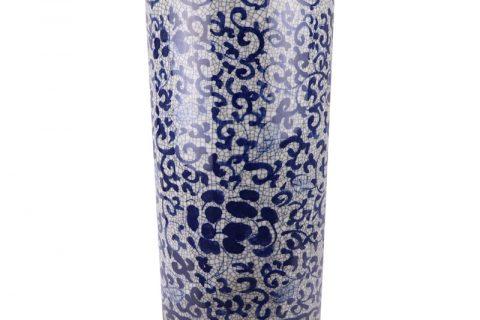 RYYV07-A-L Chinese handmade blue and white decorative crack ceramic vase