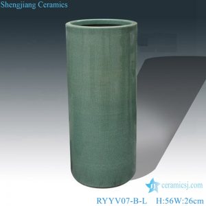 RYYV07-B-L-S Chinese handmade decorative ceramic vase green color