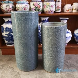 RYYV07-D-L-S Chinese handmade grey decorative ceramic vase