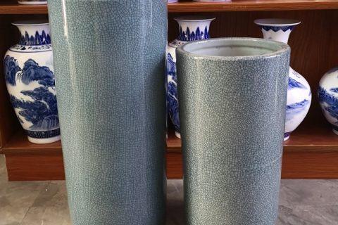 RYYV07-D-L-S Chinese handmade grey decorative ceramic vase