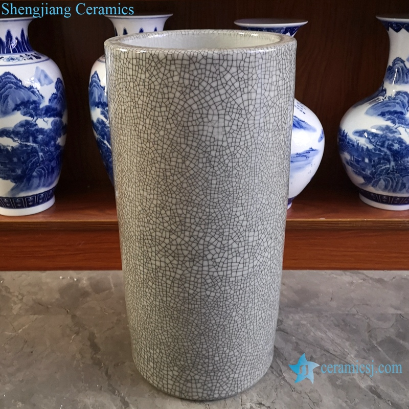 Chinese handmade grey decorative porcelian vase RYYV07-D-L-S