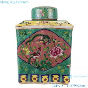 RZFA15 Chinese handmade powdery ceramic square storage tank
