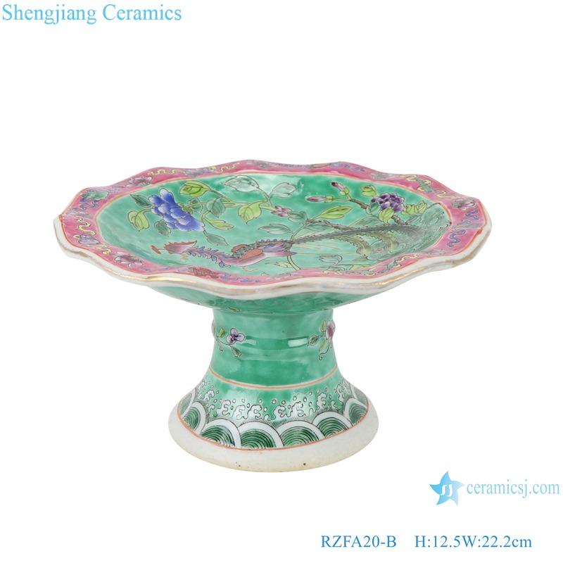 Chinese handmade Powder enamel porcelain tray fruit tray RZFA20