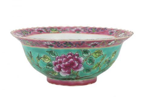 RZFA21 Chinese handmade ceramic powder enamel bowl