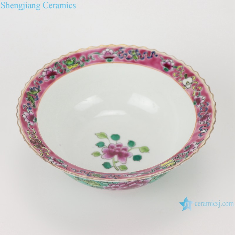Chinese handmade porcelain powder enamel bowl RZFA21