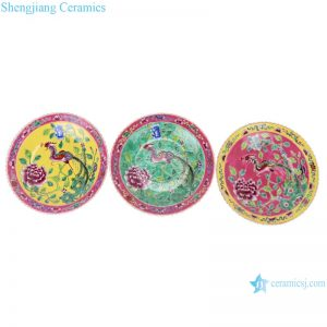 RZFA23-24-25 Chinese handmade powder enamel porcelain plate sets