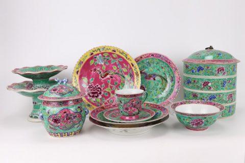RZFA Chinese handmade powder enamel tableware sets