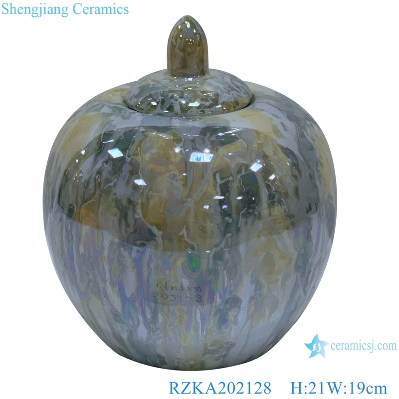 Straight tube electroplated shell texture covered apple pot