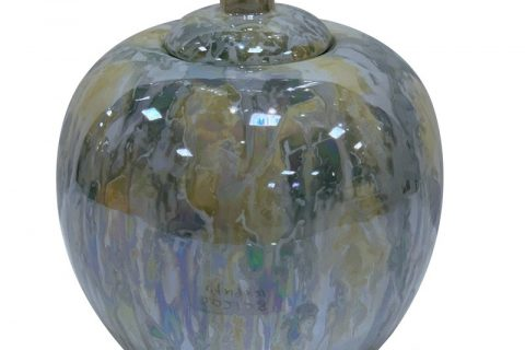 RZKA202128 Straight tube electroplated shell texture covered apple pot