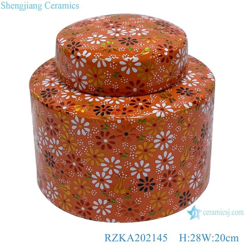 RZKA202145 Orange family rose flower medium ceramic pot