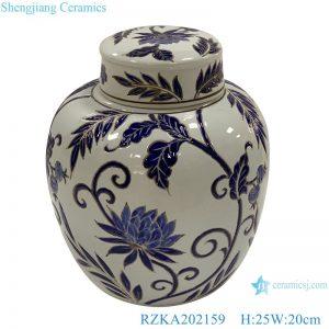 RZKA202159 White family rose ceramic flower design jar