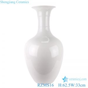 RZMS16 Chinese handmade color glaze white ice crack porcelain vase