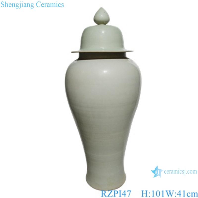 RZP147 wholesale pure white color simple pattern ceramic ginger jar