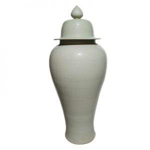 RZP147 wholesale pure white color simple pattern ceramic ginger jar
