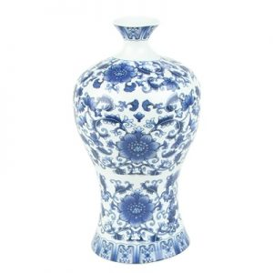 RZRZ01 wholesale cheap classic floral blue and white ceramic vase for home restaurant hotel use