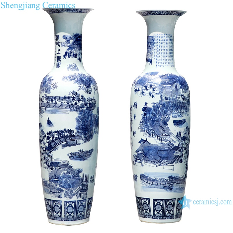 Jingdezhen antique cracked glaze Kaiming porcelain vase