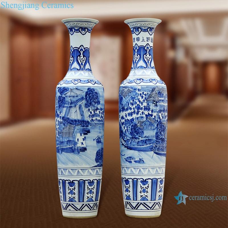 antique cracked glaze Kaiming porcelain vase
