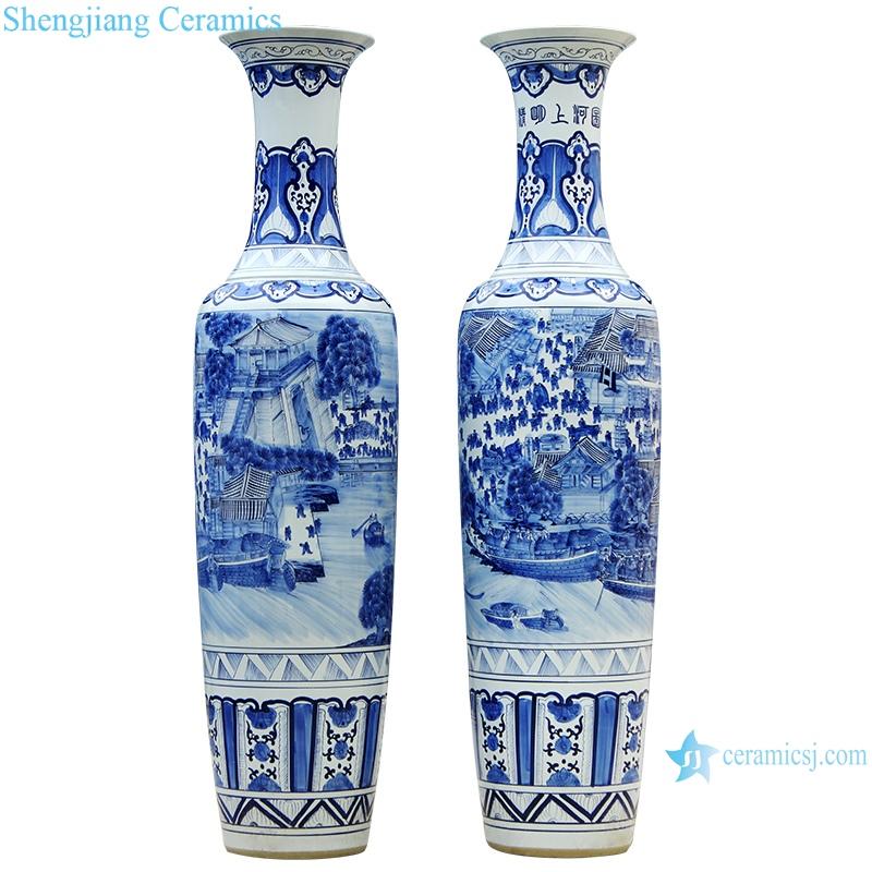 Chinese antique cracked glaze Kaiming porcelain vase
