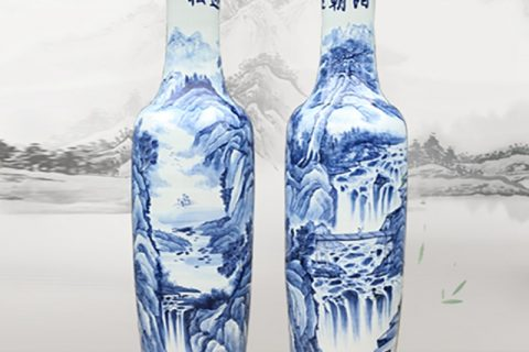 RZRi08-A Chinese hand painted Vase Set in the hall of large porcelain bottles