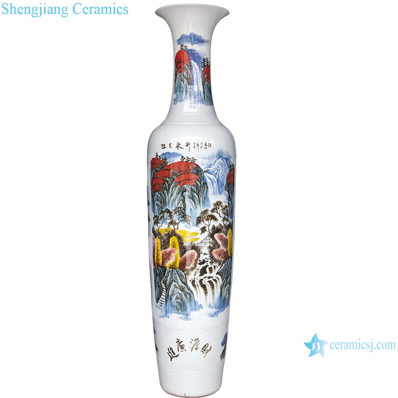 hand painted Vase Set in the hall of large porcelain bottles