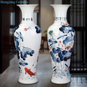 RZRi116-A Chinese Ceramic Handpainted lotus flower for years
