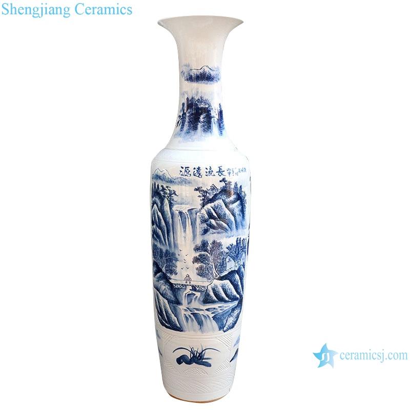 Jingdezhen porcelain blue and white porcelain has a long history vase