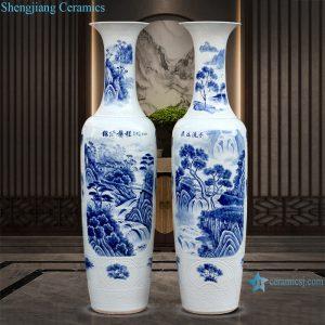 RZRi39-A Jingdezhen porcelain blue and white porcelain has a long history vase