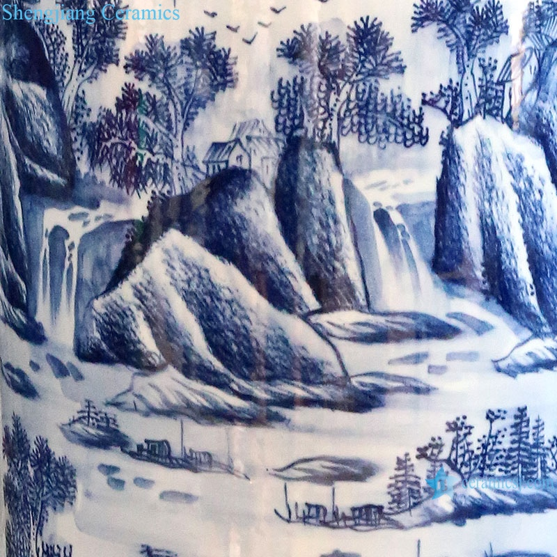porcelain blue and white porcelain has a long history vase