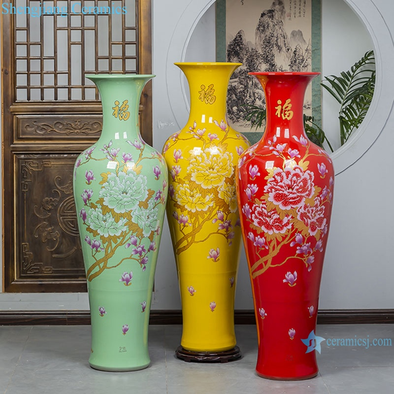 RZRi54-A floor large vase Jingdezhen Ceramic home furnishing hotel living room decoration