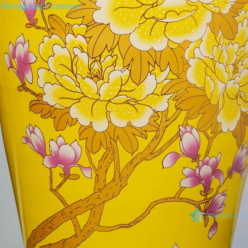 Chinese floor large vase Ceramic home furnishing hotel living room decoration
