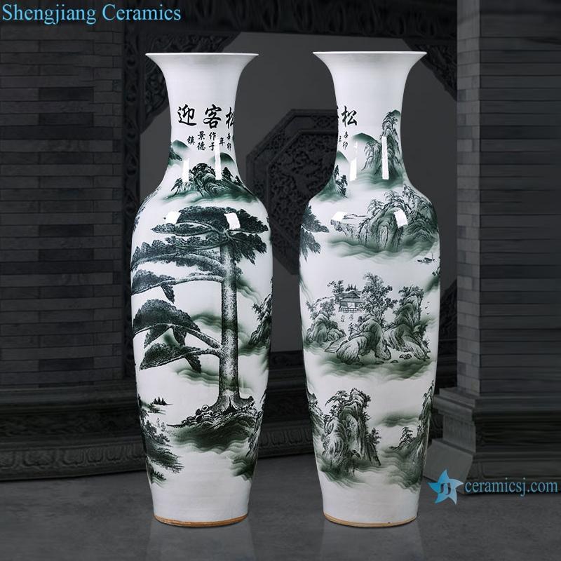 RZRi76-A Jingdezhen Ceramic floor vase living room home decoration