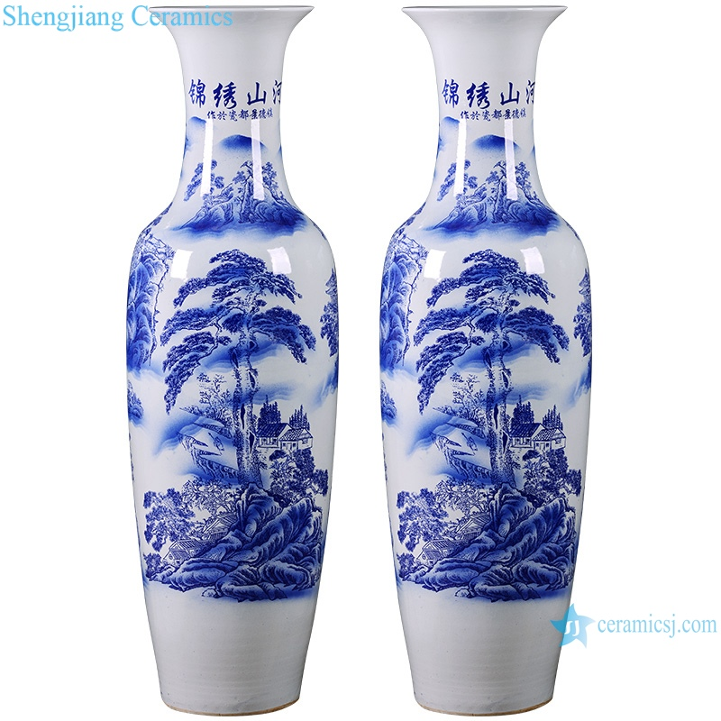 Jingdezhen Ceramic floor vase living room home decoration
