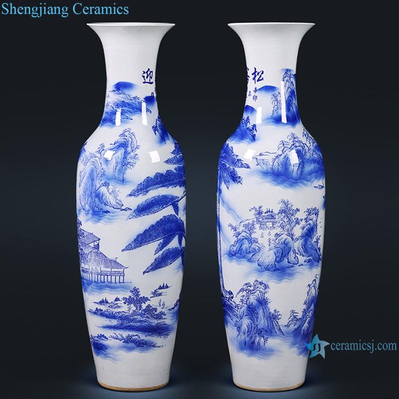 Chinese Ceramic floor vase living room home decoration