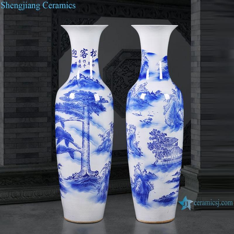 hand painted Jingdezhen Ceramic floor vase living room home decoration