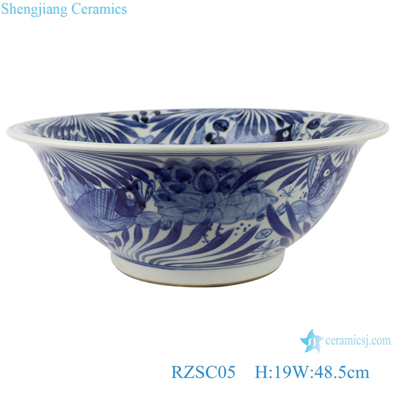RZSC05 blue and white porcelain antique design ceramic bowl