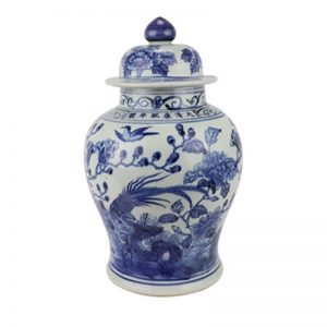 RZSC07 Jingdezhen blue and white ceramic classical ginger jar for home decoration
