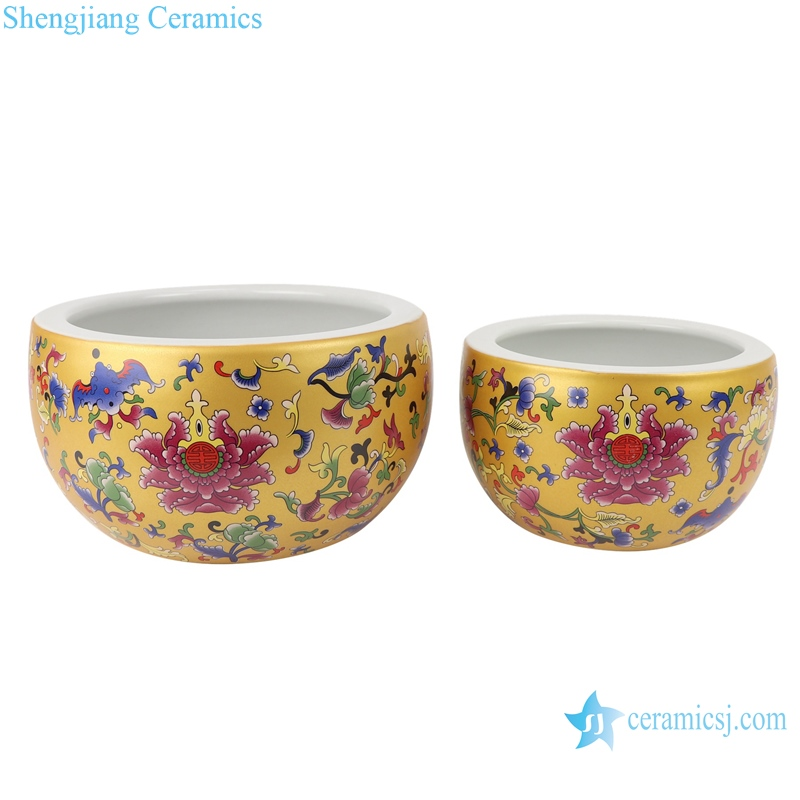 RZSE01-L-S Chinese gold pattern multi-design ceramic pots
