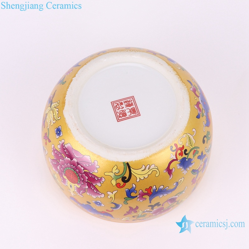 RZSE01-L Chinese gold pattern multi-design ceramic pots